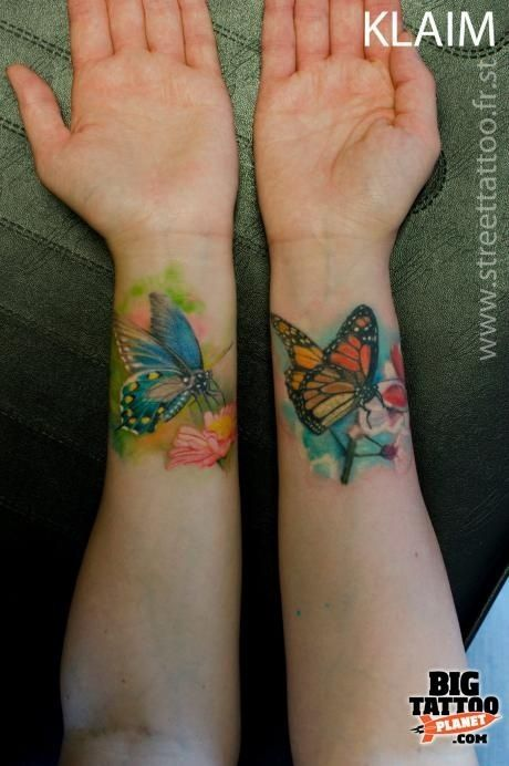 Watercolor Style Tattoos | Watercolour butterflies # ...