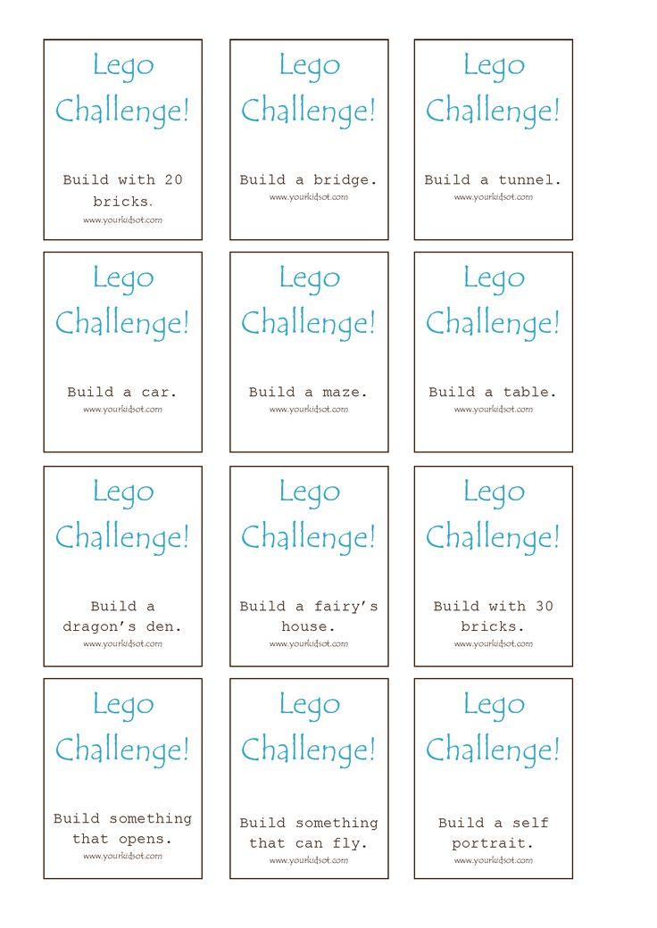 FREE Lego Challenge Printable - Your Kids OT