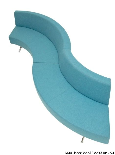 Basic Collection, Simple sofa #blue #upholstery #bench #furniture #curve