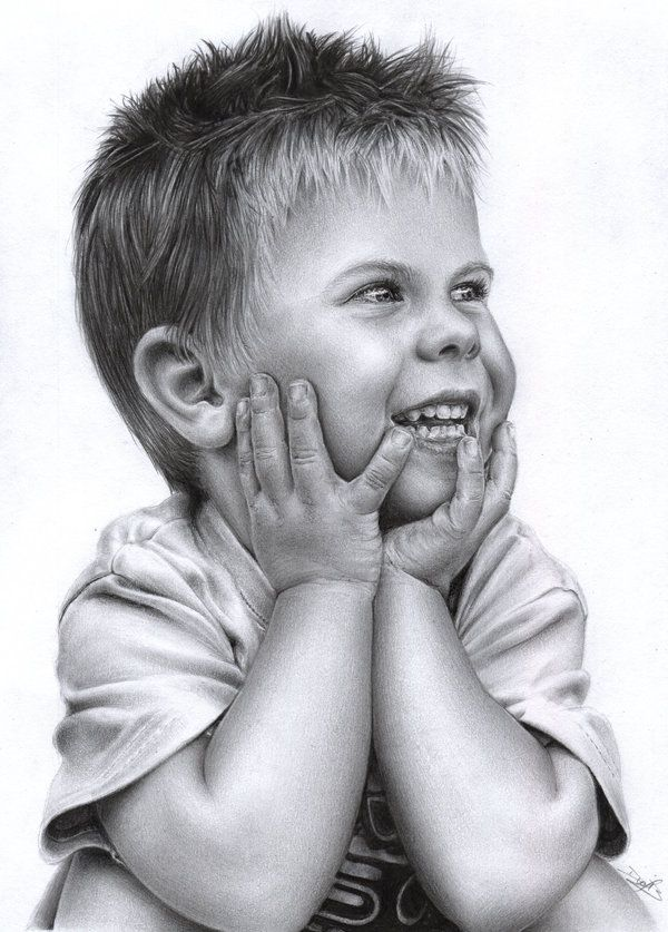 drawing of children the beauty of a smile i by d17rulez daisy van den berg of 4595