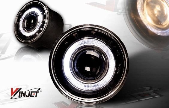 Jeep Grand Cherokee 2005-2010 Smoke Halo Projector Fog Lights by Winjet - WJ30-0094-11