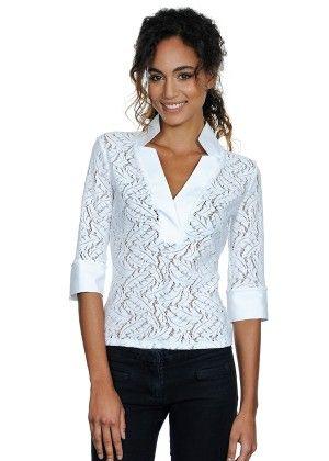 Δαντελένια λευκή μπλούζα