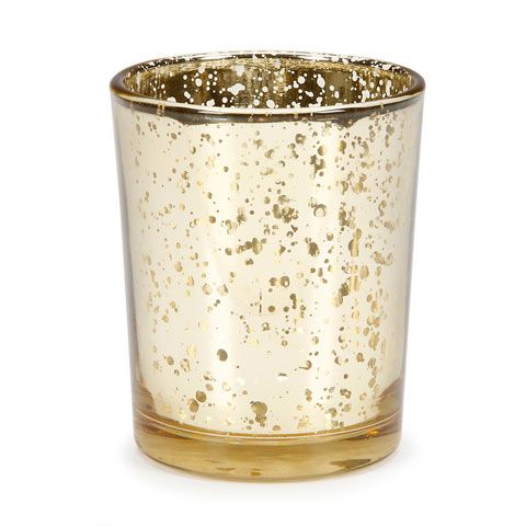 ConsumerCrafts Product Wedding Votives: Gold Mercury Glass Votive $1.17 each (free shipping, over $100)