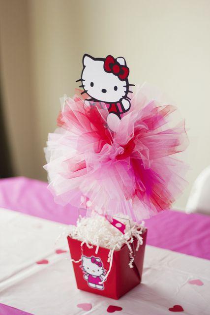 Centro de Mesa Hello Kitty / Birthday $5.00 Pachangas y Mas El Salvador 2515-1233 /79955701