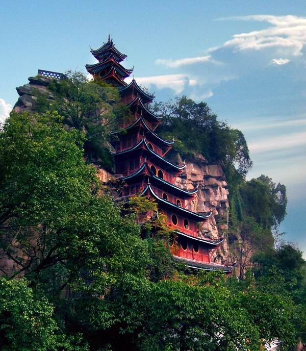 Liangjiang Pavilion, Eling Park, Yuzhong District of Chongqing, Province, China