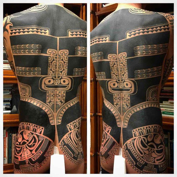 full back maori tattoo pattern