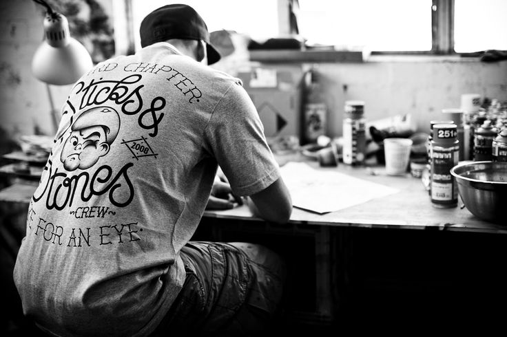 """Third Chapter's Dusk Till Dawn Collection, Featuring Our """"Sticks & Stones T-Shirt"""""""