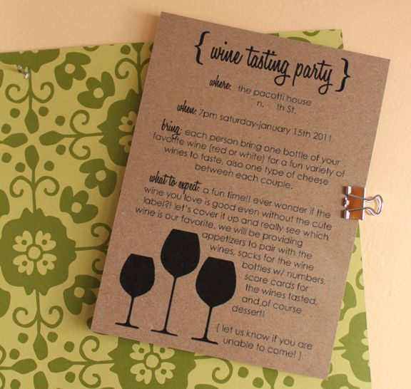 wine tasting party invite | party ideas. | Pinterest ...
