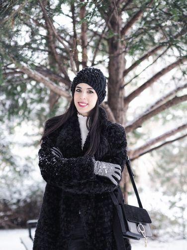 Winter faux fur play