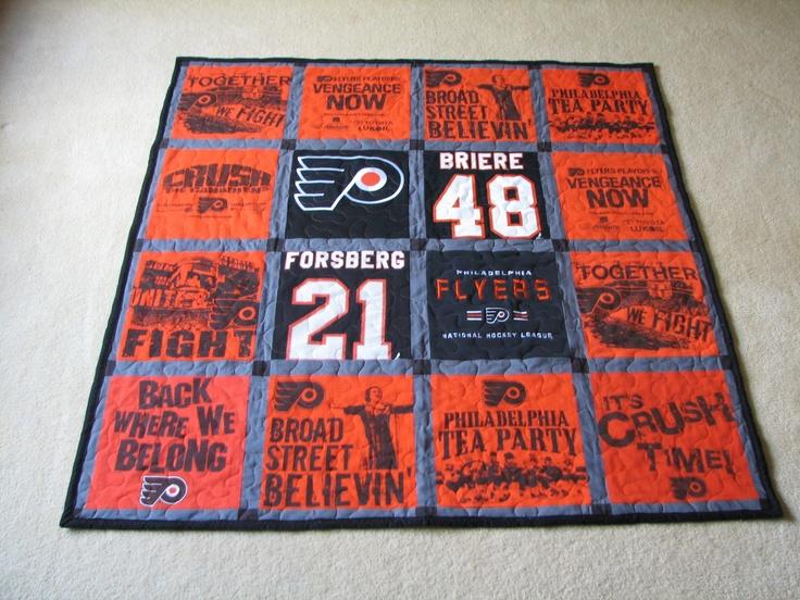 The Philadelphia Flyers quilt!