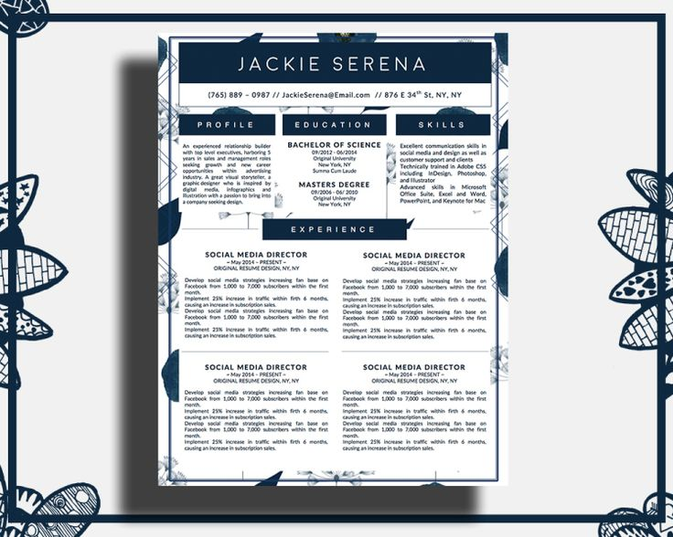 7 best The Elegant Resume Collection Bundle images on Pinterest - how to create a resume in word