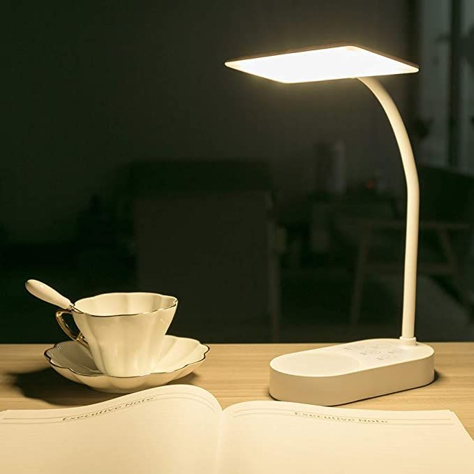 Usb Rechargeable 2 Batteries Powered Desk Table Lamp 40 Led 3 Colors Dimmable 6 Brightness Reading Book Light For Kids Stu Table Lamp Lamp Table Reading Lamp