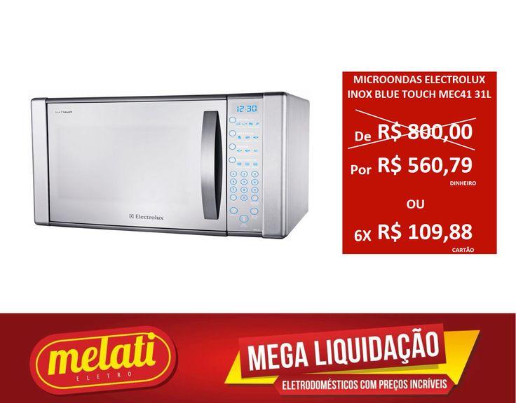 SALDÃO MICRO-ONDAS ELECTROLUX INOX BLUE TOUCH MEC41 31 LITROS ========================================== CLASSIFICAÇÃO DO PRODUTO SALDO => https://www.melatieletro.com.br/pagina/nossos-produtos.html  ==========================================  📌 ❶ A͟͟N͟͟O͟͟ D͟͟E͟͟ G͟͟A͟͟R͟͟A͟͟NT͟͟I͟͟A͟͟ CONTRA DEFEITO FUNCIONAL  ==========================================  🚛 F͟͟R͟͟E͟͟T͟͟E͟͟ G͟͟R͟͟A͟͟T͟͟I͟͟S͟͟ consulte as regras do frete grátis ==========================================  📍ENDEREÇO DA LOJA…