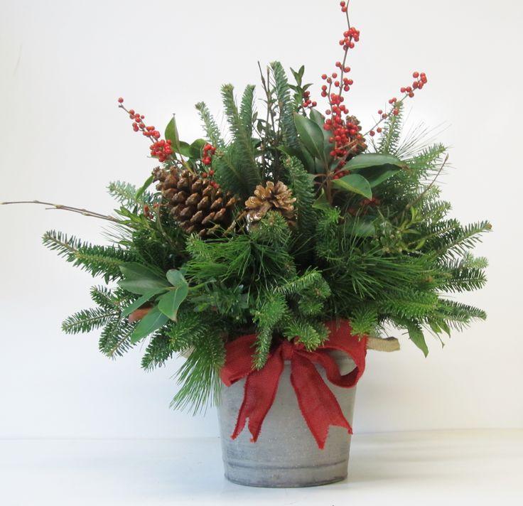 Christmas Arrangements - Assorted Greenery Arrangements                                                                                                                                                                                 More