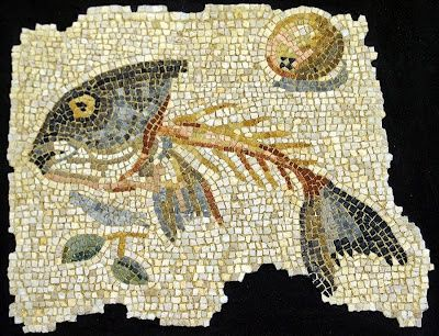 Roman mosaic from Aquileia    #roman #mosaic