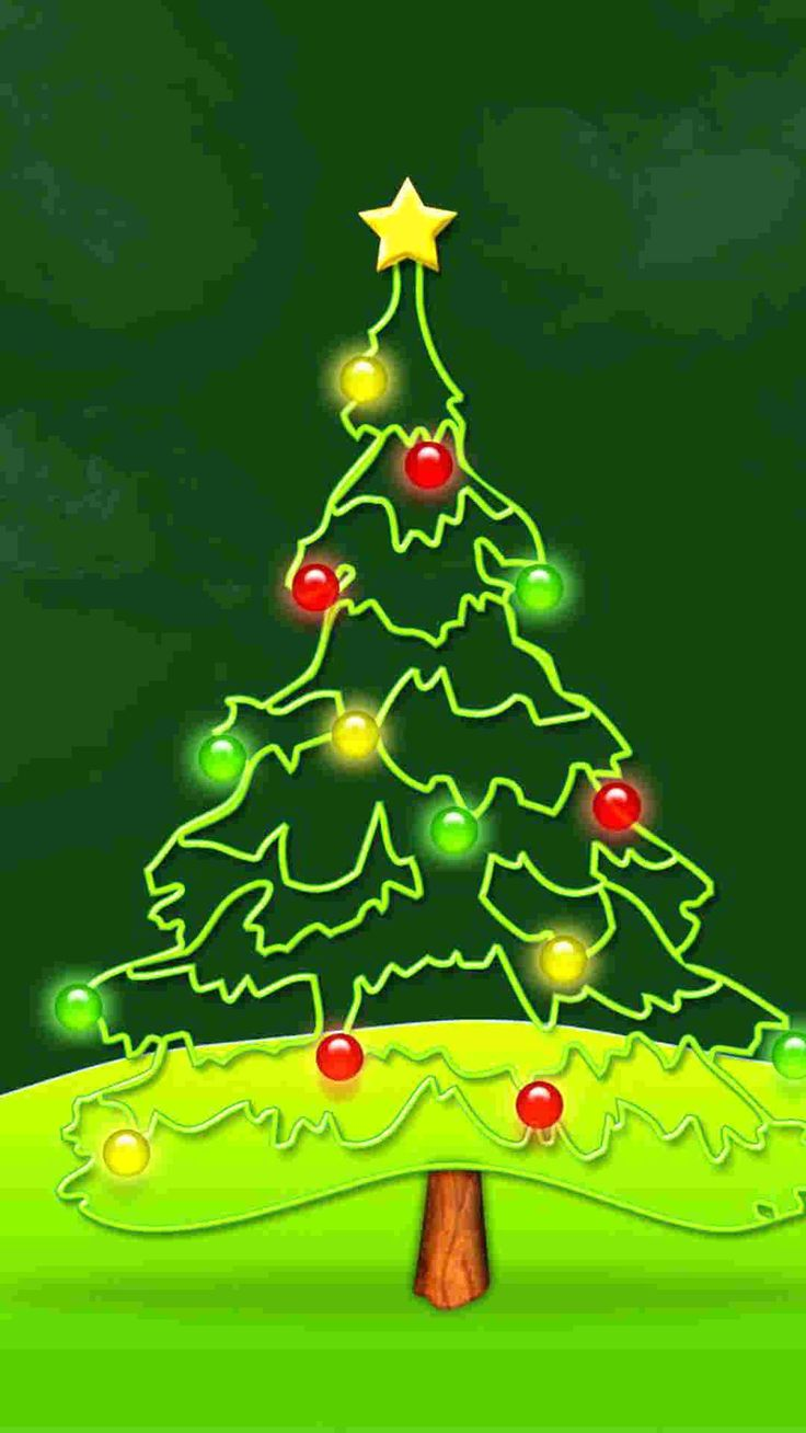 2014 Christmas tree paint iPhone 6 plus wallpaper lights