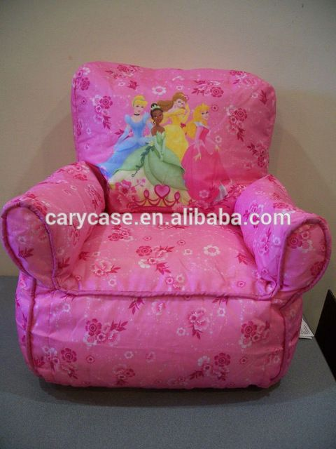 Source Girl Princess Toddler Pink Bean Bag Kids Sofa Chair TV Video Game  Play Lounge On