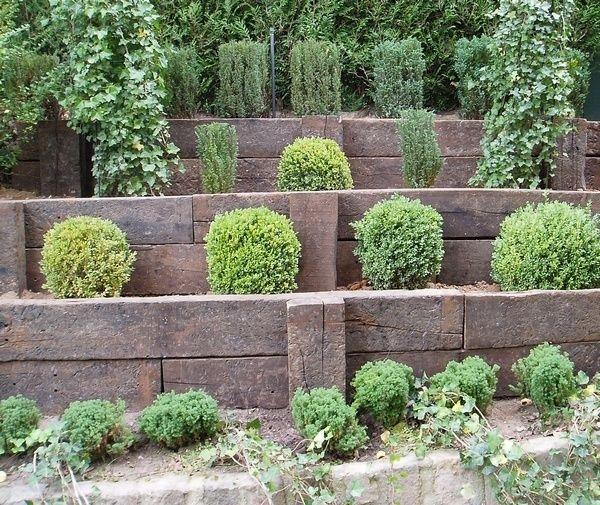 Traverses En Bois Pour Retenue De Terre Traverse Bois Amenagement Jardin Joli Jardin