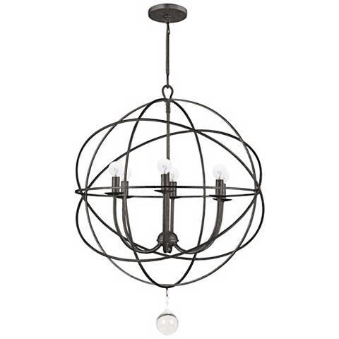"Crystorama Solaris 22 1/2"" Wide English Bronze Pendant - #T6728 | Lamps Plus"