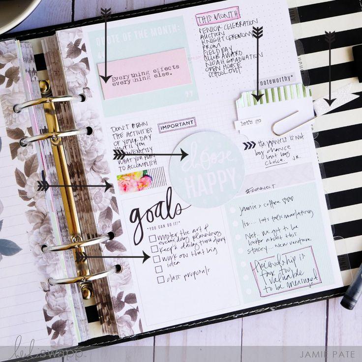 Anatomy of a Heidi Swapp Memory Planner by Jamie Pate | @jamiepate for @heidiswapp