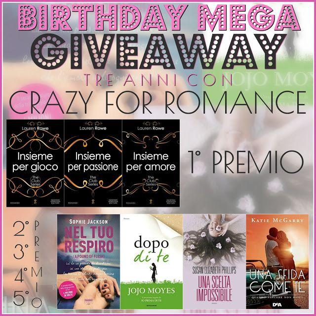 CrazyForRomance: Birthday Mega Giveaway per festeggiare i tre anni ...