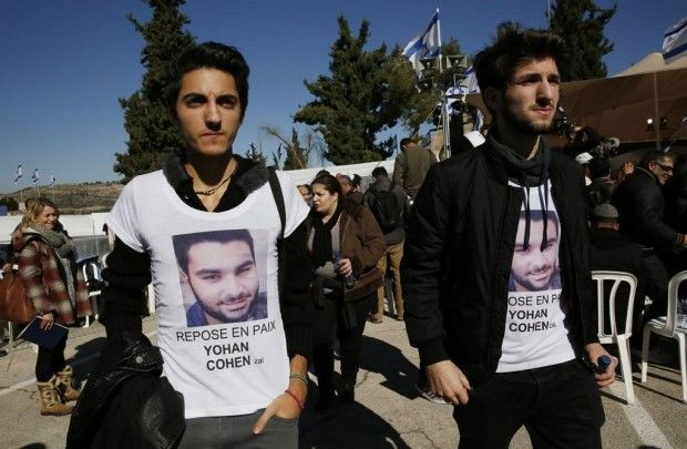 Thousands of Israelis converged on a Jerusalem cemetery Tuesday to pay last respects to the four Jewish victims slain in the Islamist terror attack on a kosher supermarket in Paris Friday. Though they were French citizens, Yoav Hattab, 21, Yohan Cohen, 20, Philippe Braham, 40, and Francois-Michel Saada,...