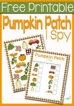 This pumpkin patch I Spy & Scavenger hunt set is the perfect introduction to the fall season for your preschoolers! Practice counting, matching, and visual discrimination while building language skills to familiarize them with words that they will be hearing during the fall.
