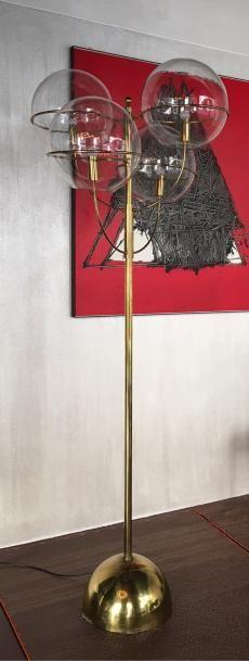Tre lampade da terra Mod. Lyndon-350 = Vico Magistretti