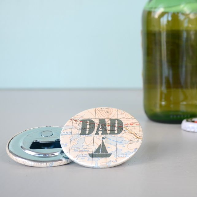 'Dad' Magnetic Bottle Opener - a Father's Day idea from Grace & Favour Home