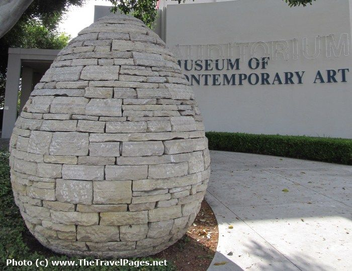 Andy Goldsworthy Sculpture at the Museum of Contemporary Art in La Jolla, California