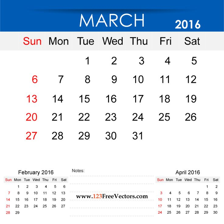 Free Download March 2016 Calendar Printable Template Vector Illustration. Can be used for business, corporate office, education, home etc.Free Editable Monthly Calendar March 2016 available in Adobe Illustrator Ai