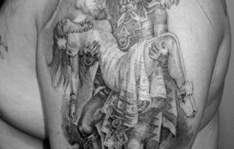 aztec tribal tattoo sleeve