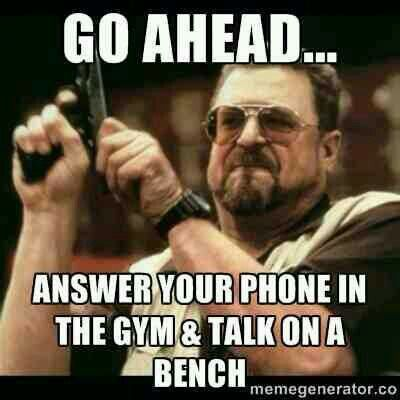 This goes for the treadmill too. Don't talk on the phone!