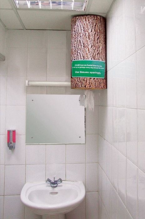270,000 trees are flushed down the toilet or end up as garbage every day around the world
