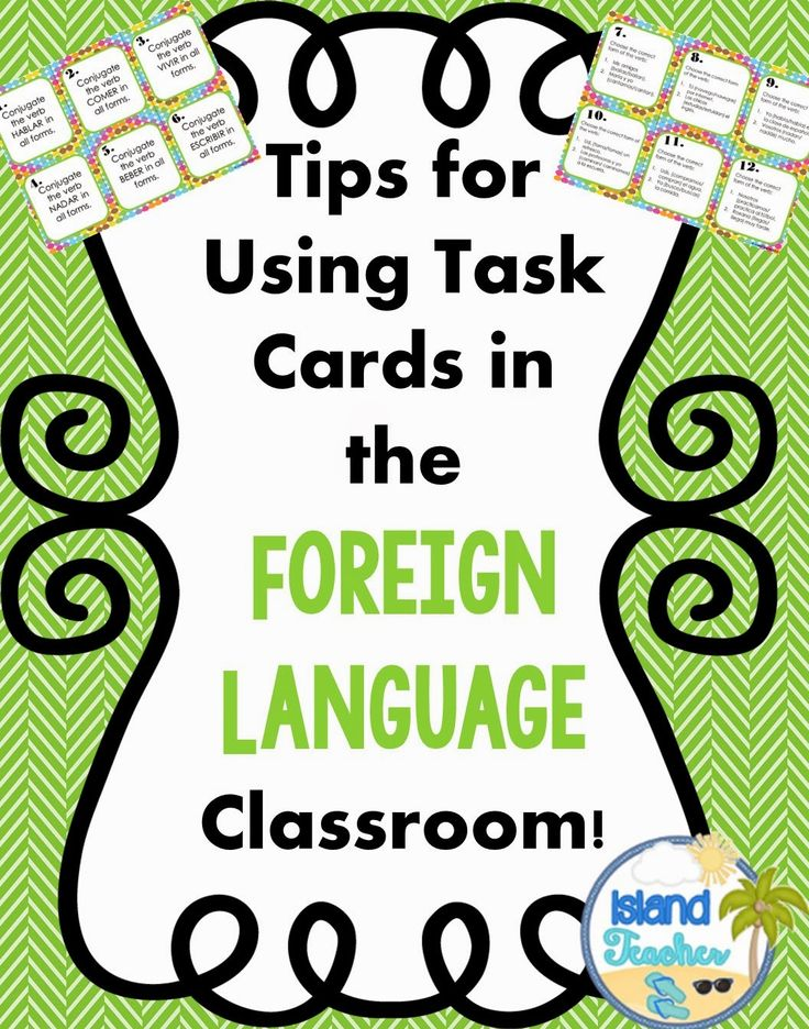Island Teacher: Using Task Cards in the Foreign Language Classroom