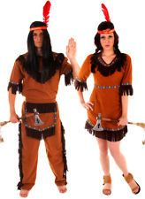 Adult Ladies & Mens Native American Red Indian Fancy Dress Up Party Costumes