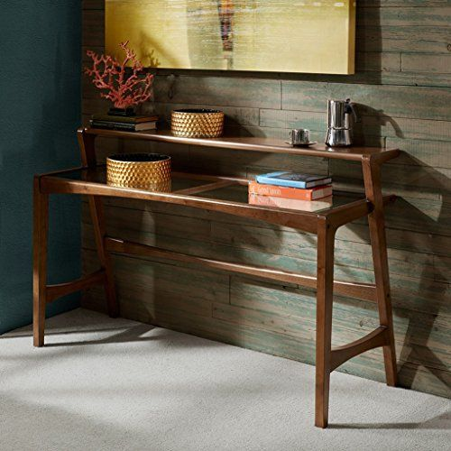 Mid Century Modern Retro Wood 2 Level Console Sofa Table ...