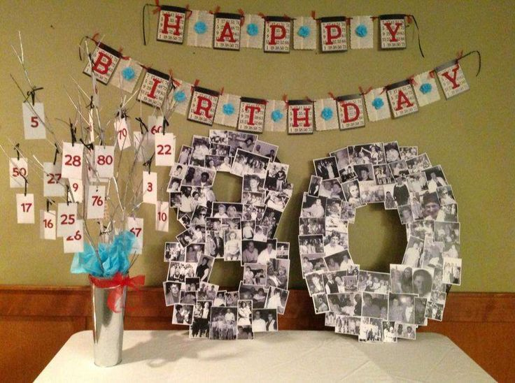 80th Birthday Party Ideas | Photo 1 of 11 | Catch My Party  Just the pic