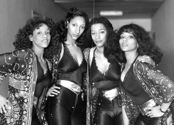 Sister Sledge - Kathy, Debbie, Kim and Joni in England, 1981. Photo by SSPL/Getty Images.