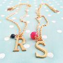 Namensketten - Halskette mit Buchstabe Initial Wunschbuchstabe - ein Designerstück von SmillaBrav bei DaWanda