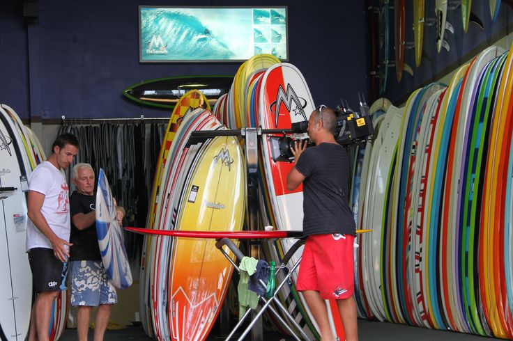 Learning from the best. Bob McTavish is a man of many accolades. Founder of McTavish Surfboards (a high quality sufboard manufacturer based in Byron Bay, NSW) and creator of the, now iconic, V-bottom surfboard. Whilst filming Series 3 of Places We Go, Clint stopped by his office to absorb all the information he could, prior to hitting the surf! As selecting the right board is paramount....particularly for a beginner!