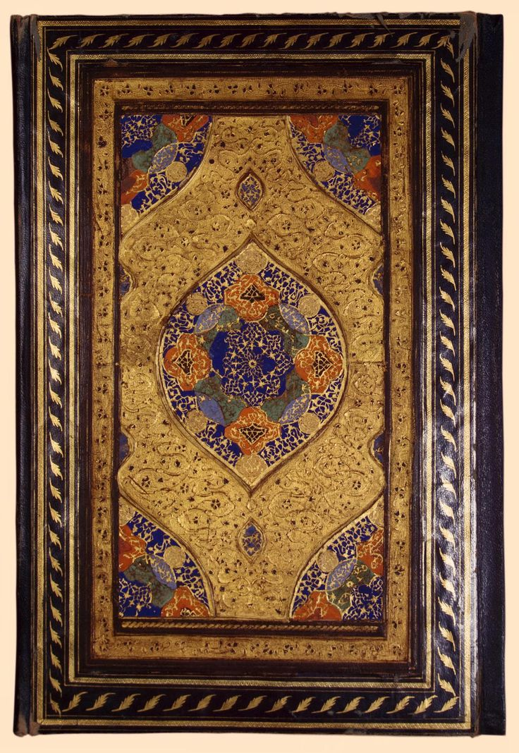Binding of the Manuscript 'Pearls of Commentary to the Koran' (in Persian) Iran Between 1578 and 1579 leather stamped and gilded 36,1x24,5