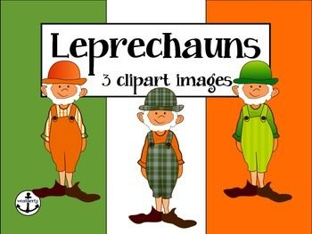 Leprechaun CLIPART - Use these cute leprechauns to add some luck to your worksheets and resources.