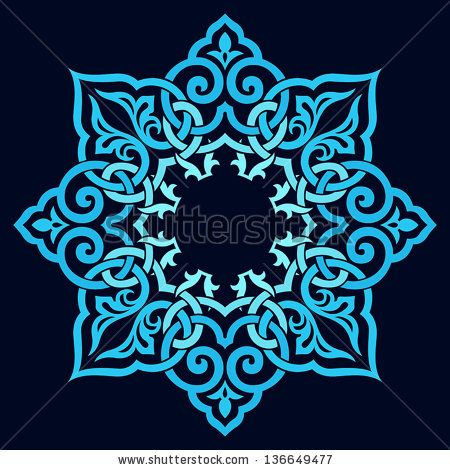 Abstract vector circle floral ornamental border by Persian Graphics Studio, via ShutterStock