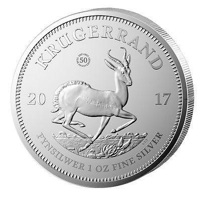 Silber Krügerrand 2017 1oz Silber aus Südafrika ERSTJAHRGANG