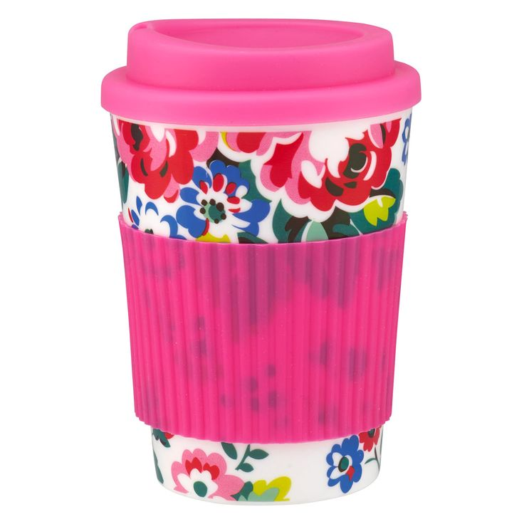Large Spray Flowers Travel Cup | New Arrivals | Cath Kidston