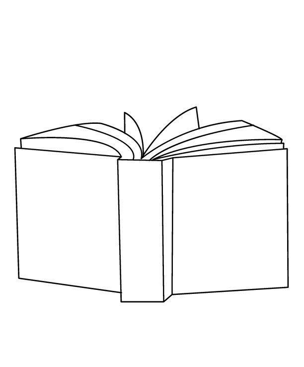Kitap haftası için kitap boyama sayfaları