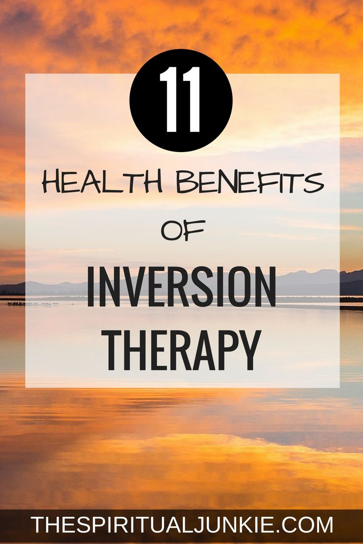 The health benefits of Inversion Table Therapy