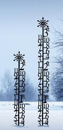 WANT!!!!....Wrought Iron Snow Gauge $44...great for those who live in high snow areas...just watch it pile it!