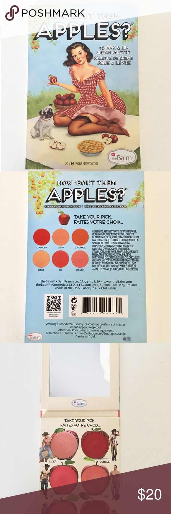 The Balm How Bout Them Apples Palette The Balm How Bout Them Apples Palette. Pigmented cream blushes. Sorry no trades. the balm Makeup Blush